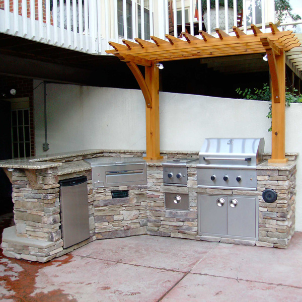 Outdoor kitchen grills outdoor kitchen building and design for Gas grill tops outdoor kitchen