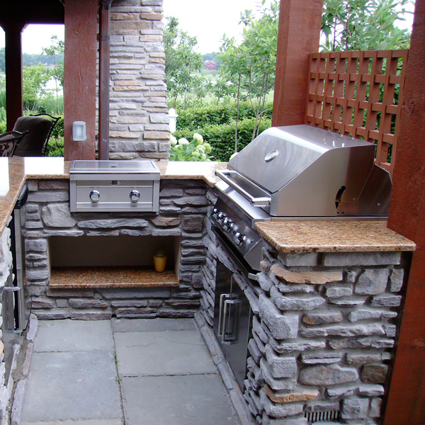 Lovely Stone Outdoor Grill