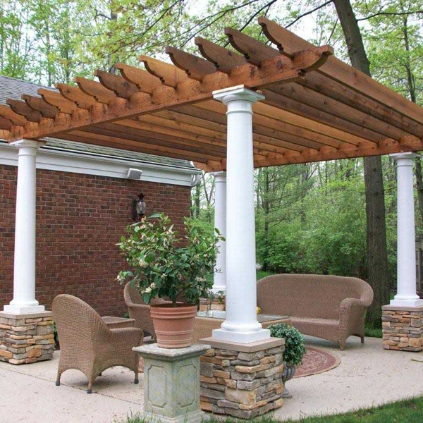Outdoor Stone Pillars : Simple landscape landscaping ideas pictures pergolas and