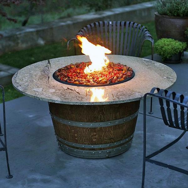 Reserve Wine Barrel Fire Pit Table Granite By Vin De
