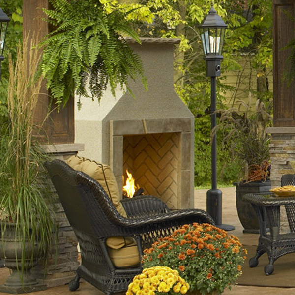 San juan fireplace by the outdoor greatroom company for Outdoor rooms with fireplaces