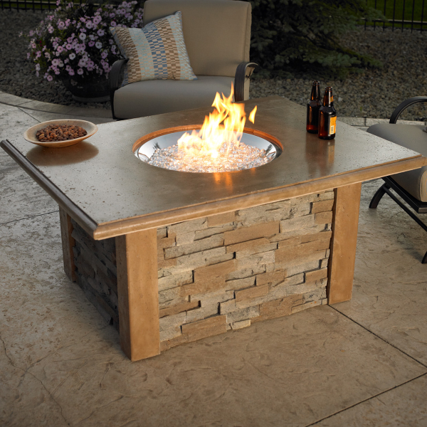 Sierra Fire Pit Table - Round Burner by The Outdoor GreatRoom ...