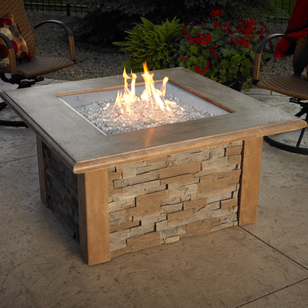Sierra Fire Pit Table - Square by The Outdoor GreatRoom Company ...