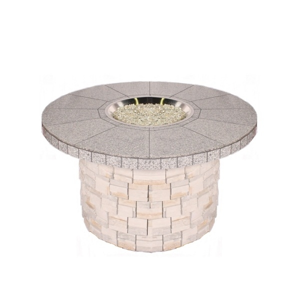 Tile Top Stone Base Custom Fire Pit