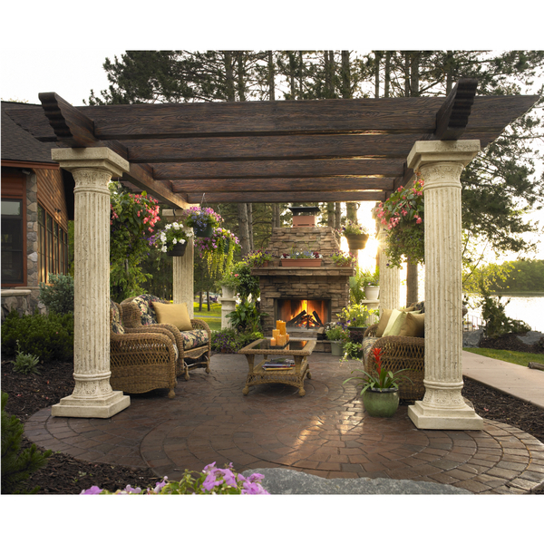 The tuscany pergola by the outdoor greatroom company for Outdoor room designs garden