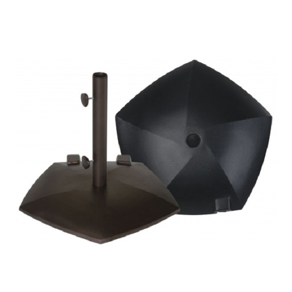 pentagon with wheels cast umbrella base 50 lbs by treasure garden