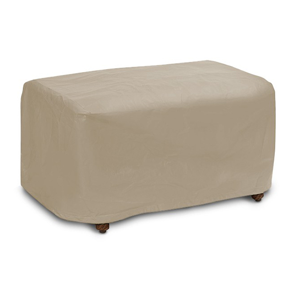 Small Ottoman Cover Winter Outdoor Furniture Cover by PCI