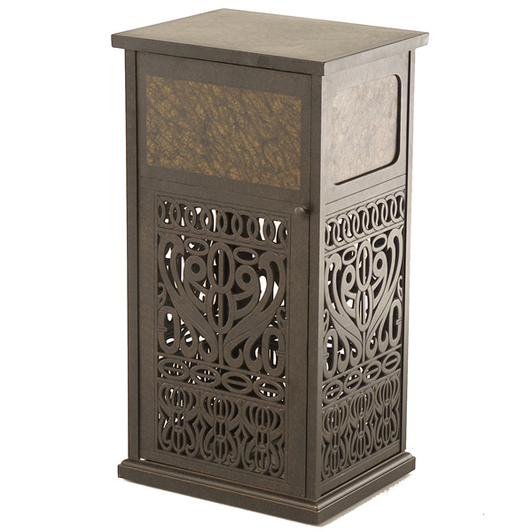 tuscany trash can by hanamint patio accessories family