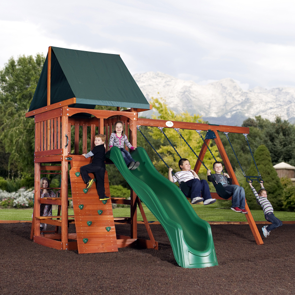 acadia play set by backyard adventures family leisure. Black Bedroom Furniture Sets. Home Design Ideas