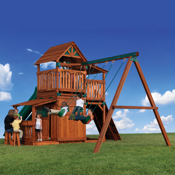 titan treehouse iii play set by backyard adventures family leisure