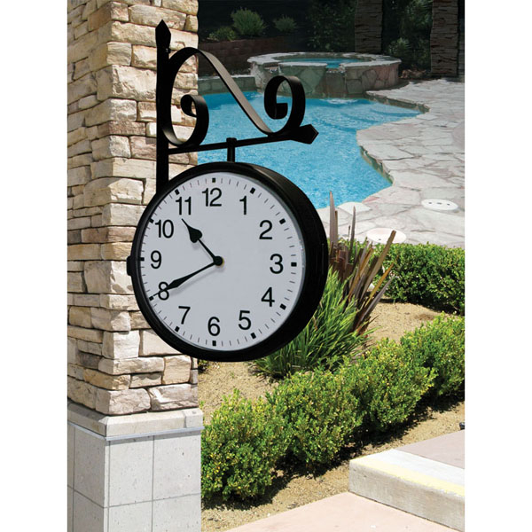 Free shipping on dual sided outdoor clock pool supplies for Garden treasures pool clock