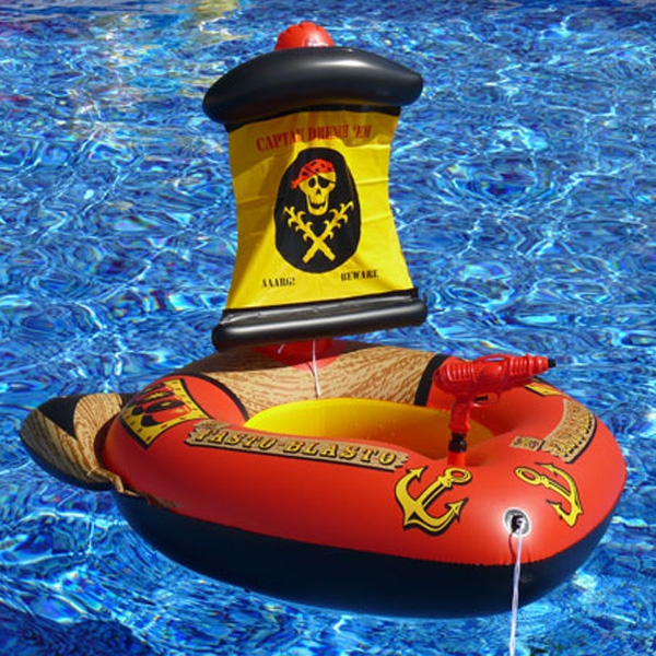 Inflatable pirate ship pool boat with squirt gun pool - Inflatable pirate ship swimming pool ...
