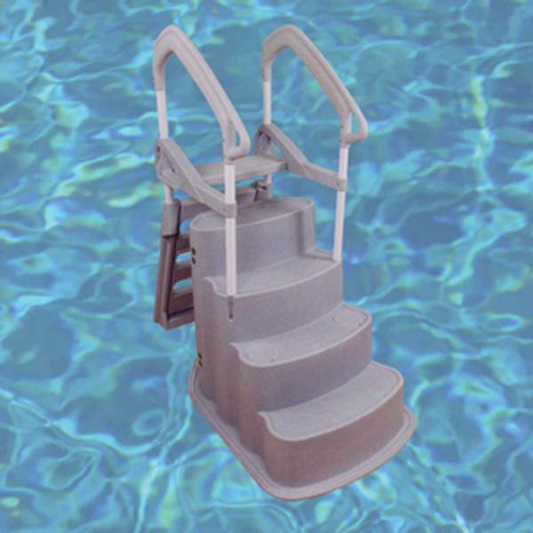 Above ground swimming pool steps and replacement pool ladders pool supplies family leisure - Above ground pool steps ...