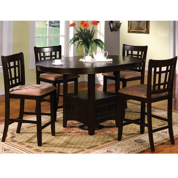5 piece counter height dining set by family leisure for Pub style dining sets