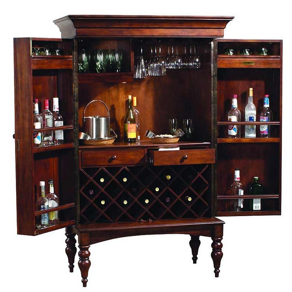 Cheap Furniture In Memphis Tn Cherry Hill Hide-A-Bar Upright by Howard Miller | Wine & Spirits ...