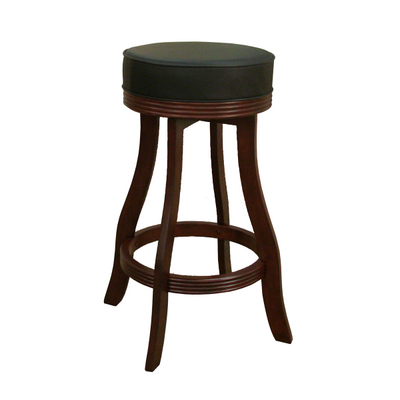Beautiful Backless Bar Stool With Hidden Swivel Mechanism & Soft Vinyl Cushion