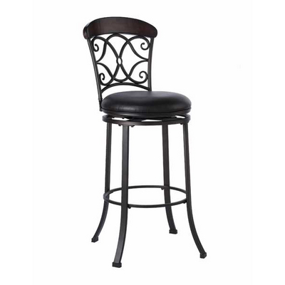 A Beautiful Wood Top Rail Crowns This Bar Stool Made From Tubular Steel