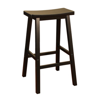 Mission-Style Kitchen Stool with a Wonderful Wood Finish & Exposed Keys