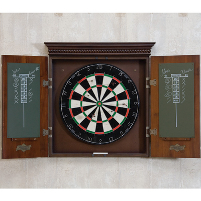 Wood Cabinet on Cavalier Dart Board With Wood Cabinet By American Heritage   Family