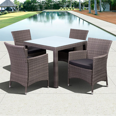 Keller Island Wicker Set for Leisurely Outdoor Dining by