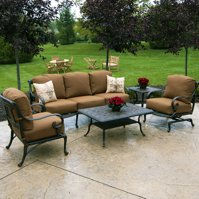 St Moritz Cast Deep Seating Patio Furniture By Hanamint Family Leisure