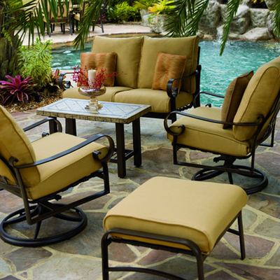 Outdoor Living Patio Furniture on Your Outdoor Living Area With A New Belden Cushion Outdoor Patio Set