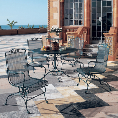 Briarwood Outdoor Wrought Iron Set by Woodard