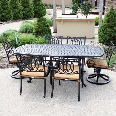 A Cast Aluminum Outdoor Patio Dining Set Designed to Last for Ages