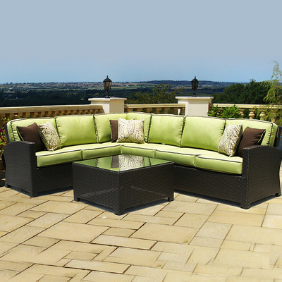 Sectional on Wicker Sectional   Patio Furniture By North Cape International   Great