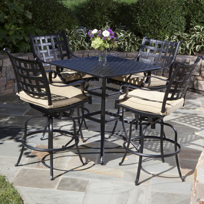 Patio Furniture Collections on Relax In Style On Your Patio With The Chateau Bar Height Collection