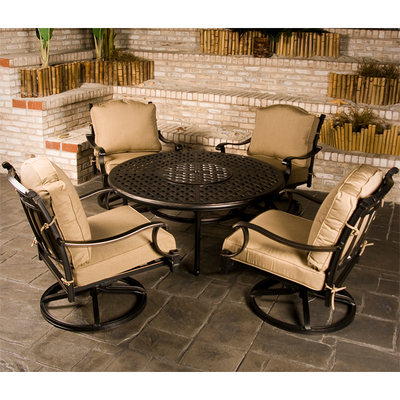 Chateau Outdoor Patio Furniture Fire Pit Set