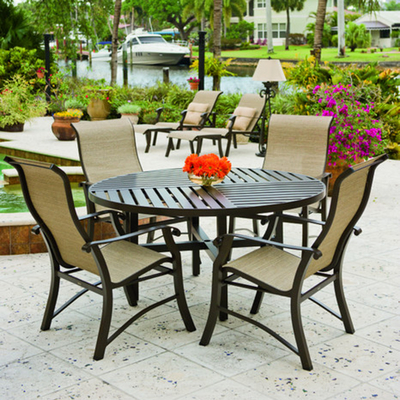 Free Patio Furniture on Comfortable  Sling Patio Furniture Is Virtually Maintenance Free