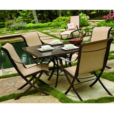 Enjoy Your Outdoor Living Area with a Cromwell Sling Outdoor Patio Dining Set