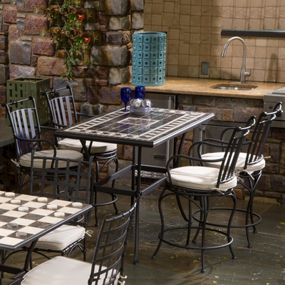 Gibraltar Gathering Height Dining Set by Alfresco Home