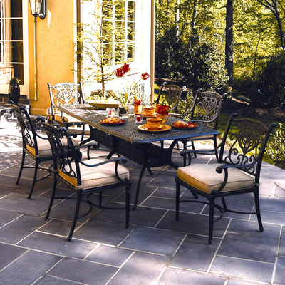 Grand tuscany patio furniture dining set hanamint for Hanamint patio furniture