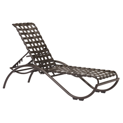 Furniture on La Scala Outdoor Strap Chaise Lounge By Tropitone   Family Leisure