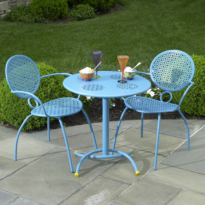 Outdoor Bistro Sets on The Margarita Bistro Set   Blue Hawaiian By Alfresco Home   Family
