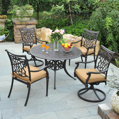 Dining Patio Furniture on Monterey Aluminum Dining Patio Set By Hanamint   Family Leisure