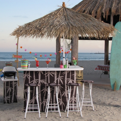 outdoor tiki bar set by best of times portable bars