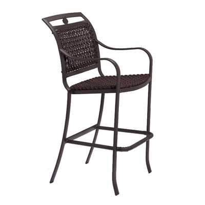 Charming Bar Stool with a Softly-Curved Design & Elegant Lattice Weave
