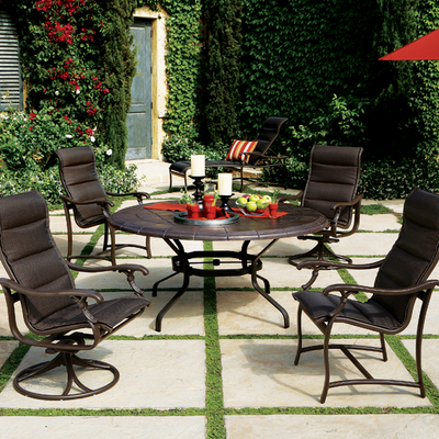 Ravello padded sling patio furniture by tropitone family for Tropitone patio furniture