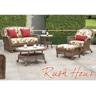 Rush Hour All Weather Wicker Patio Furniture Set By Bahama Winds Family Leisure