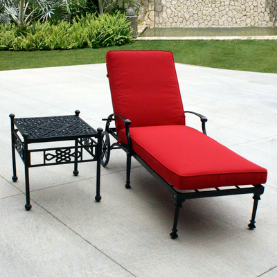 Salina chaise lounge by leisure select outdoor furniture for Casual chaise lounge