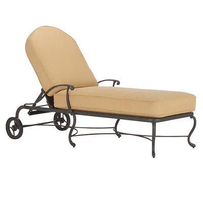 Sarbone lily chaise lounge by woodard landgrave family for Cast iron chaise lounge