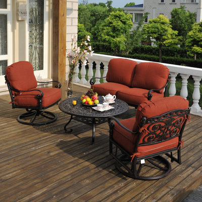 Relax in Style on Your Patio with the Sienna Outdoor Cast Aluminum Set