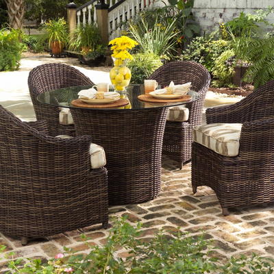 exceptional wicker dining furniture offers charming character deep