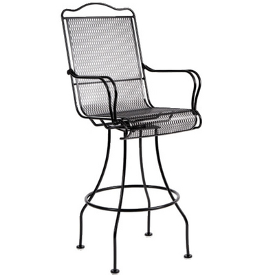 A Wrought Iron Bar Stool that's Ornate in the Details, Yet Is Not Excessive