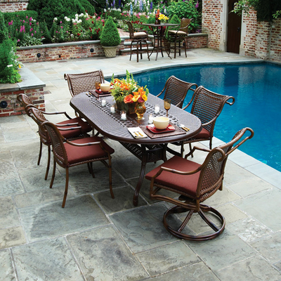 Dining Patio Furniture on Tuscany Woven Dining Patio Furniture By Summer Classics   Family