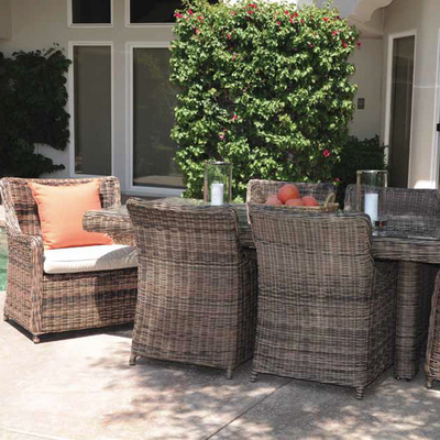 Wicker Patio  on Velour All Weather Wicker Outdoor Patio Set   Family Leisure
