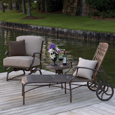 Cast Iron Patio Furniture on Venice Cast Aluminum Chaise Lounge By Summer Classics   Family Leisure